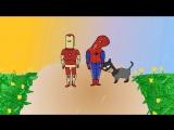 человек паук и супермен супер прикол