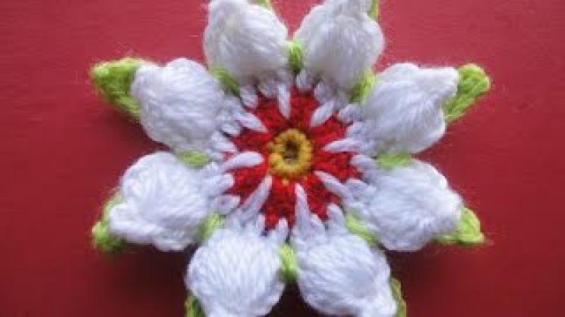 ЦВЕТОК с пышными лепестками FLOWER with lush petals Crochet