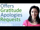 Offers Gratitude Apologies and Requests Learn English Conversation