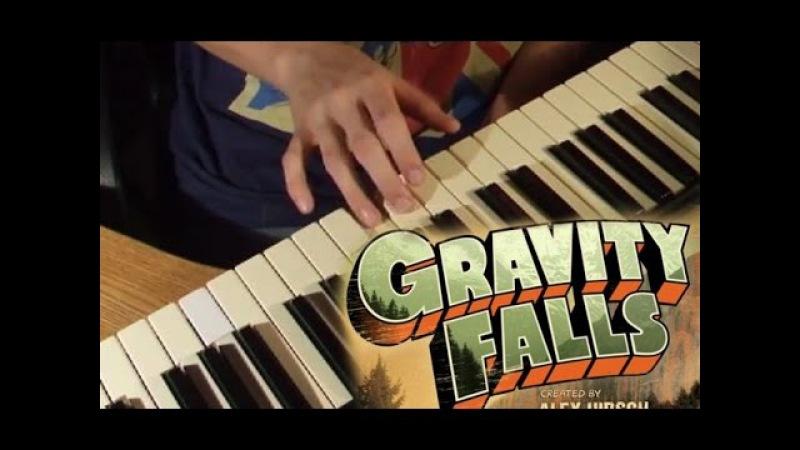 How to play Gravity Falls theme on piano/ Саундтрек Грэвити фоллс на пианино (обучение)
