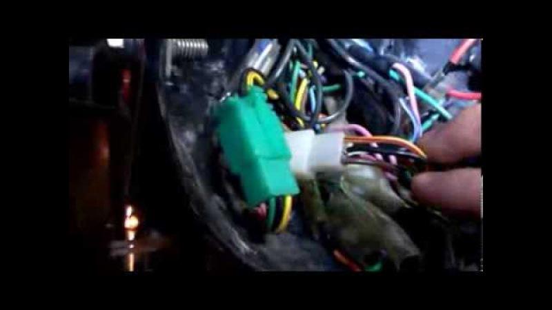 Переключение фар с генератора на АКБ(мопед Альфа Вираго)