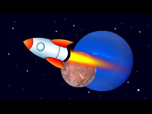 Обучающие мультфильмы для детей от 1 года от 3 лет про космос. Учимся читать по сл ...