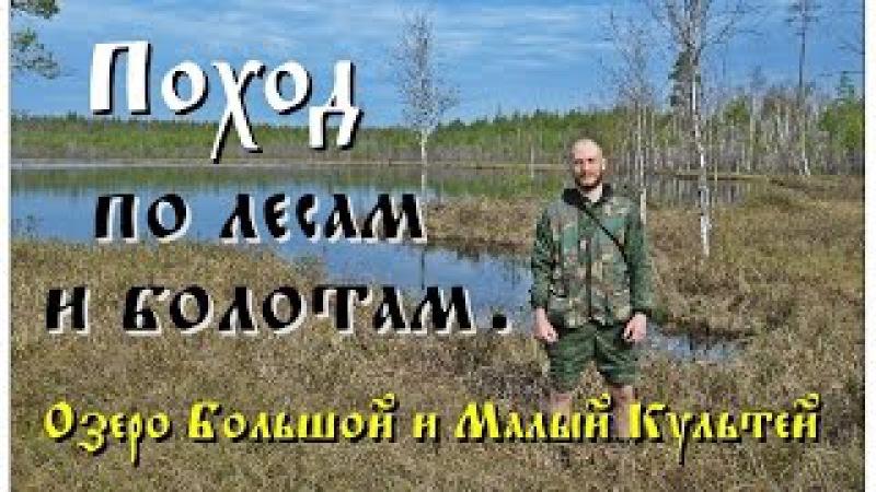 Поход по лесам и болотам. Озеро Большой и Малый Культей (Full HD)