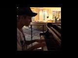 Justin Bieber playing