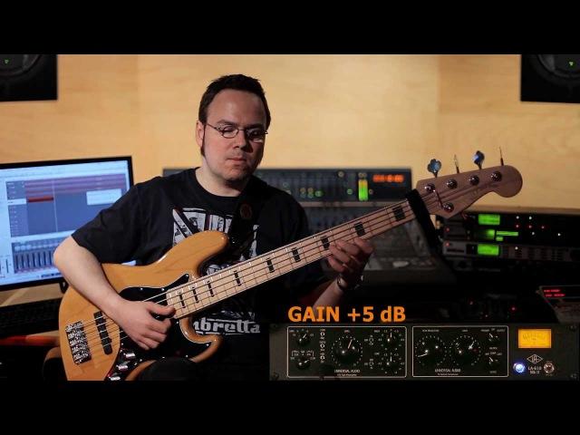 Universal Audio LA 610 MKII on Bass