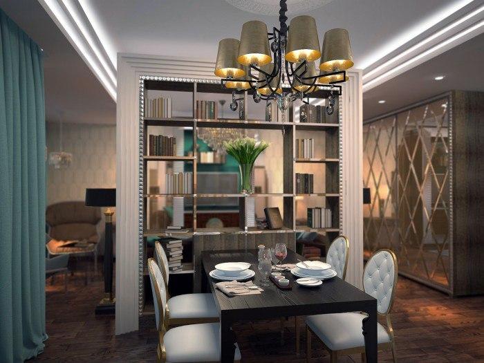 Проект квартиры 41 м в стиле арт-деко.
