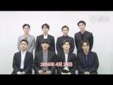 [VIDEO] 2016 K-POP Top Group Concert - EXO Greetings