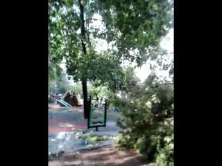 Ураган 04-07-2016 Люберцы двор Митрофанова ПОСЛЕДСТВИЯ !!