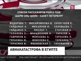 Список погибших в авиакатастрофе самолета России. Рейс 9268. Самолет A-321 31.10.15