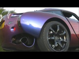 TVR Sagaris with New Exhausts System and Acceleration
