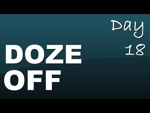 Phrasal verb doze off Day 18 with JenniferESL