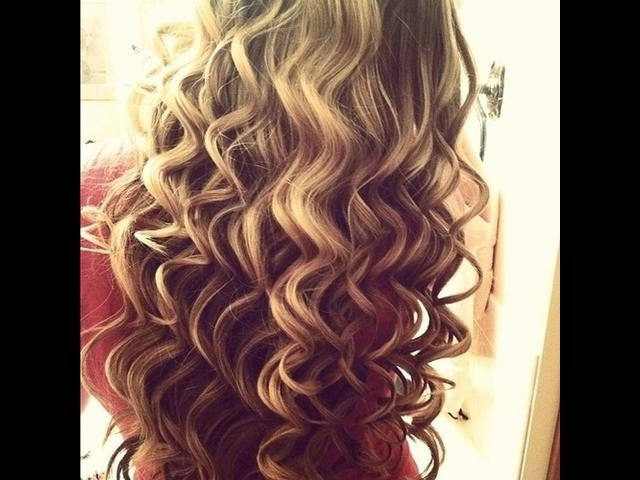 Как сделать голливудские локоны .Big loose curls.Объемные локоны