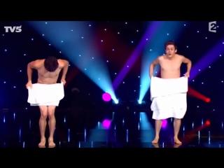 Французы комики__Танец с полотенцем._French_comedians._Dance_with_towel