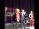 Demi Lovato, John Legend and Tony Bennett singing happy birthday to Hillary Clinton