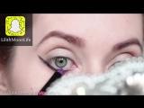 Вечерний макияж на вечеринку 2016 ★ Подводка со стрелками, кошачий глаз