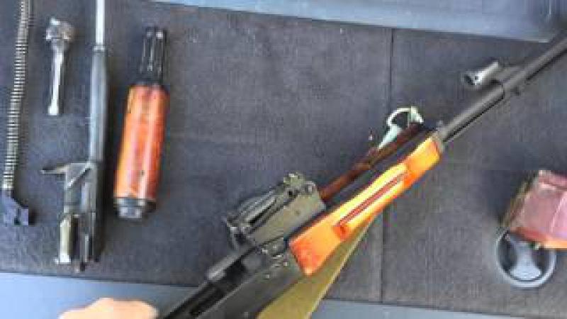 Списанный охолощенный АКМ СХП Обзор и стрельба