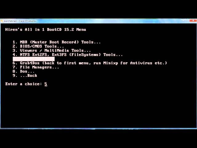 Hiren's BootCD. Обзор загрузочных инструментов.