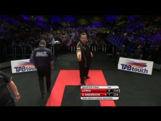 Gary Anderson vs Adrian Lewis (Perth Darts Masters 2015 / Quarter Final)