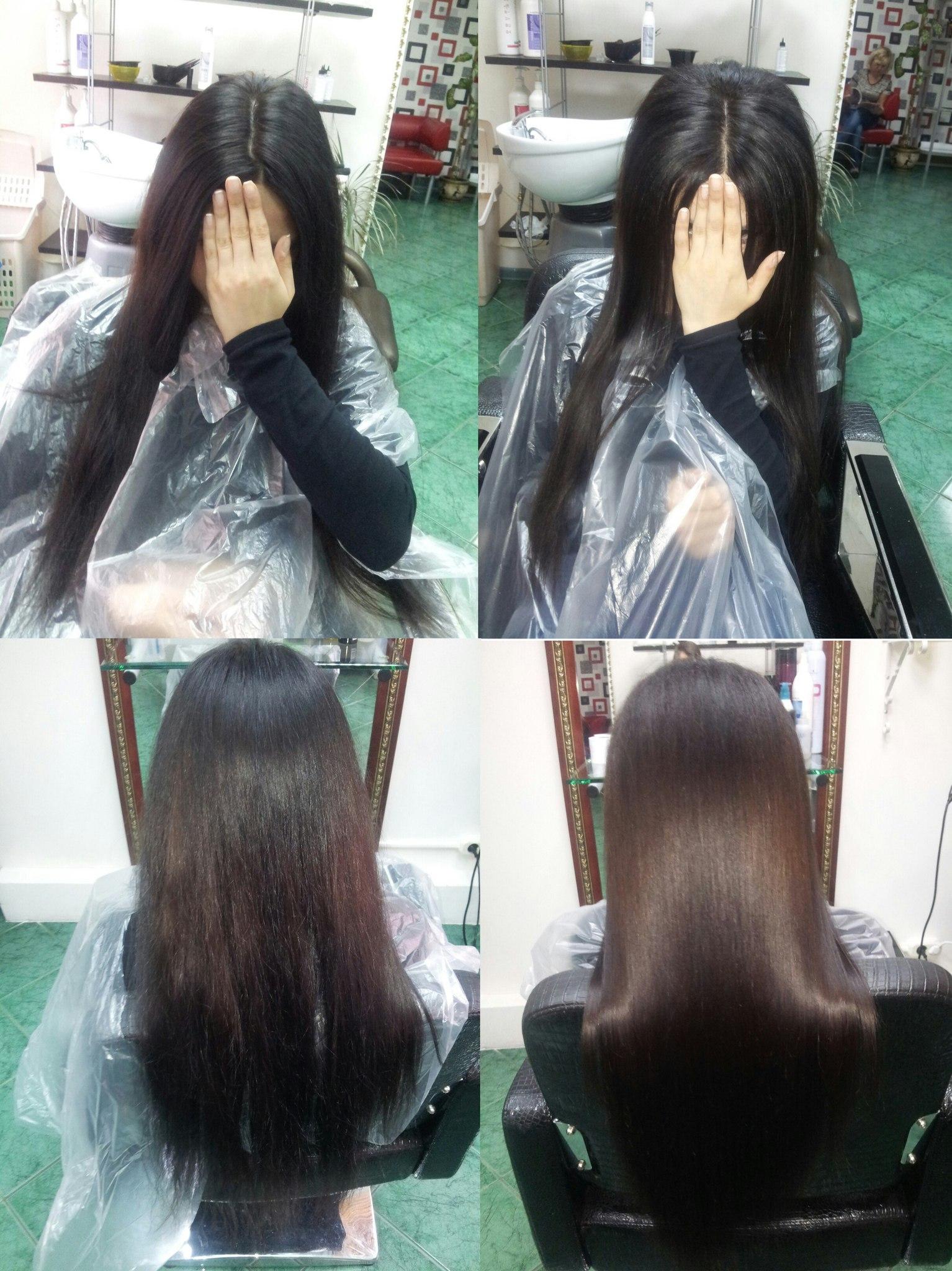 буст ап + кератинове выпрямление волос