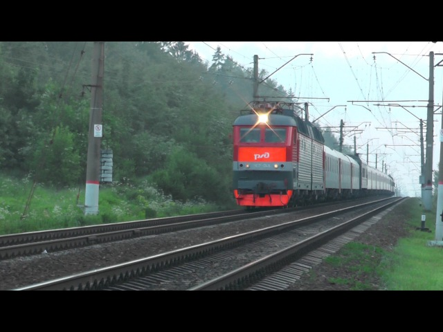 Электровоз ЧС7-048 с поездом № 018 Ницца - Москва