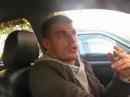 Накуренный чел читает реп в машине