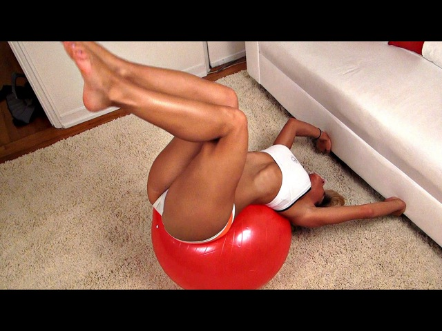 Girls AB Exercises on a Ball