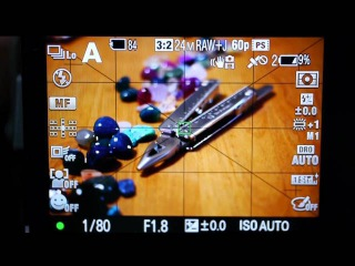 SONY A77 Focus range Peaking Function α77 ピーキング表示機能