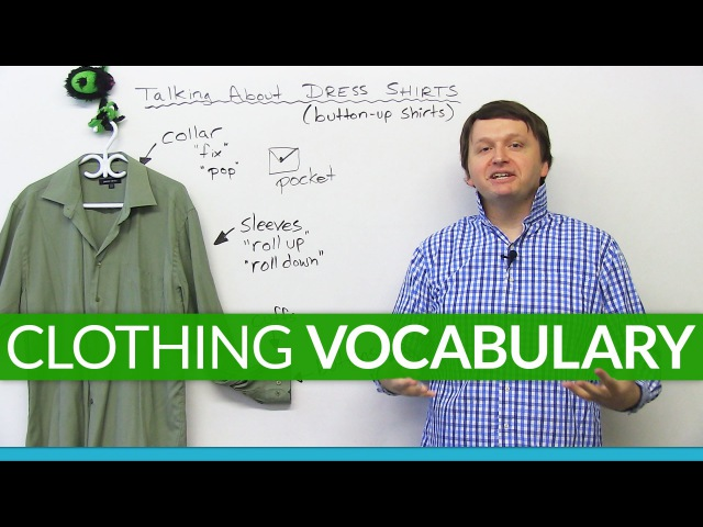 Talking about CLOTHES in English: Vocabulary about SHIRTS