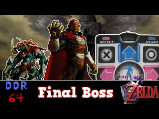 DDR 64 -Ocarina of time Final boss on Dance Pad (TLOZ OoT Gameplay