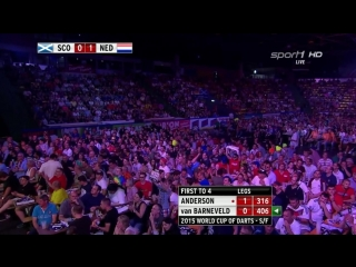 Netherlands vs Scotland (PDC World Cup of Darts 2015 / Semi Final)