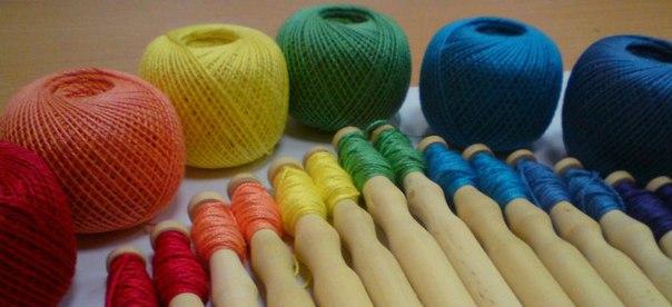 Нитки для вязания коклюшками