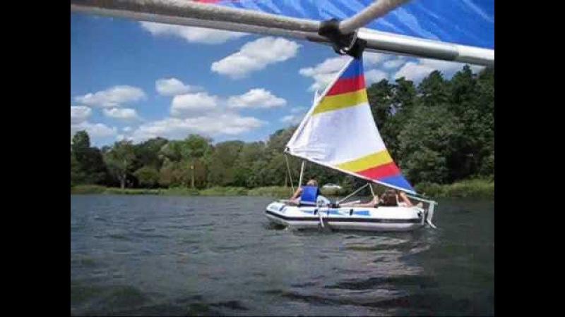 Day After Hurrican Earl - Sailing Inflatable Sailboats - Navigator II III 400