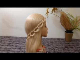 Причёска-Техника плетения Ободок из косичек. Быстрые, лёгкие причёски на каждый день