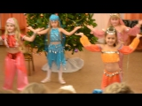 Восточный танец на новогоднем празднике в детском саду