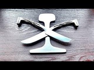 Кованный нож из жд костыля