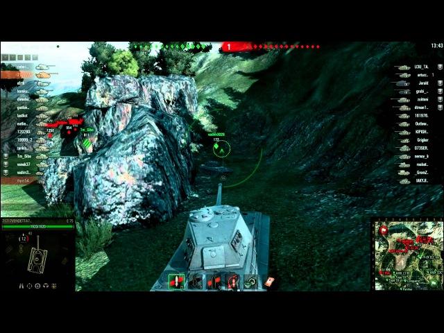 World of Tanks Е75 9500 заблокированого урона _HraM WoT_