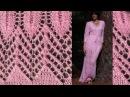 Ажурная сетка спицами по ДИАГОНАЛИ 3 видео Как вязать ажурный узор сеточку спицами