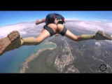 Прыжок с парашютом.Или яйца В СВОБОДНОМ ПОЛЕТЕ  Прикол 2016
