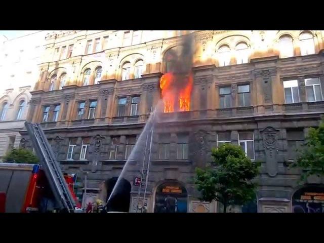 Пожар на ул. Пушкинская Санкт-Петербург 06.07.2015