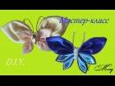 Бабочка канзаши Из атласных лент Из ткани Мастер-класс D.I.Y