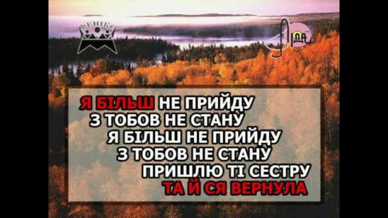 В САДУ ГУЛЯЛА — караоке Українська народна пісня Ukrainian folk song karaoke