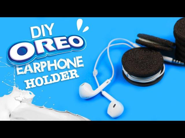 DIY | Oreo Earphone Holder Tutorial - LIFE HACK!