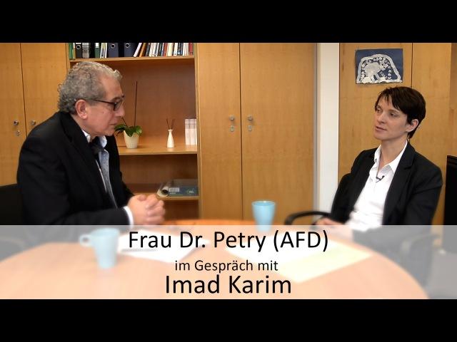 Imad Karim im Gespräch mit Frau Dr. Frauke Petry