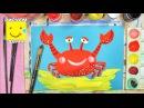 Как нарисовать краба - урок рисования для детей от 3 лет, гуашь, рисуем дома поэтапно