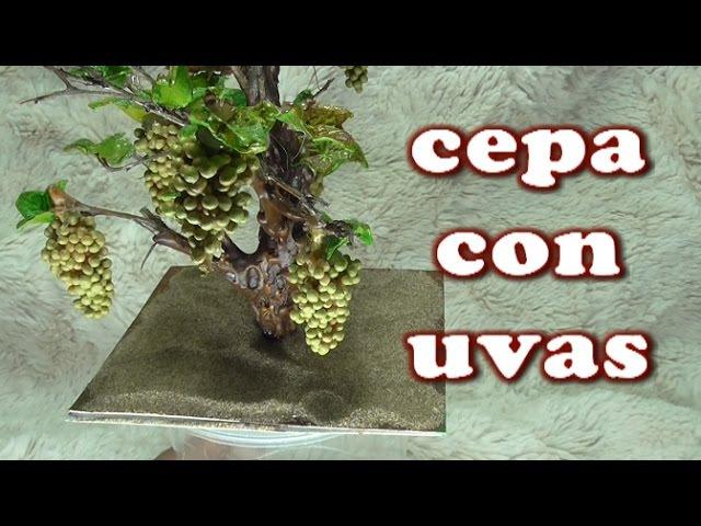 DIY VIÑA, CEPA DE UVAS PARA EL BELEN - HOW TO MAKE A BUNCH OF GRAPES FOR BELÉN