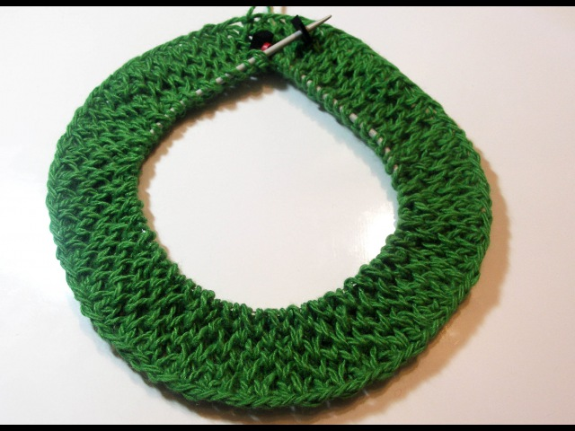 Узор соты спицами. Вязание по кругу. Соты спицами. (pattern Honeycomb)