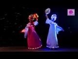 Русское танцевальное световое шоу на праздник в Зеленограде.