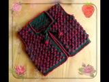 Жилет крючком КЛУБНИЧКА. Vest crocheted strawberries