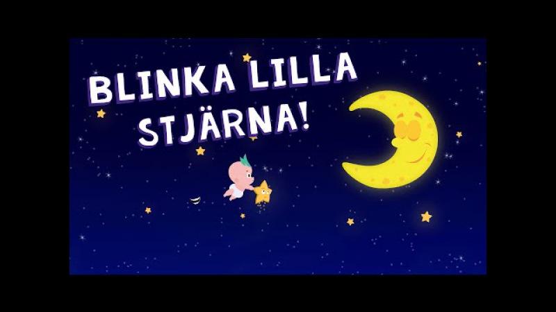 Blinka Lilla Stjärna Där | Barnvisa på Svenska | Twinkle Twinkle little Star Swedish | Tecknad Film