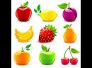 Развивающее видео для детей, карточки Домана. Учим фрукты,овощи и орехи.